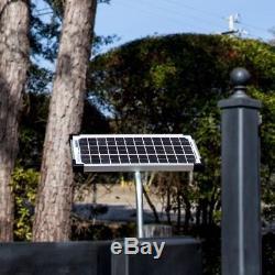 10-Watt Solar Panel Kit Electric Gate Opener Steel Power Easy Install Heavy Duty