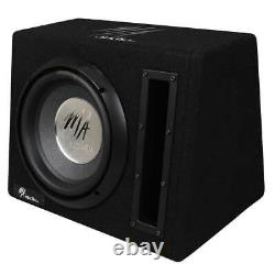 12 Active Subwoofer Bass box Car Audio Built in Amplifier Easy install free Kit