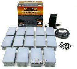 14-Light Paver Kit In-Ground Outdoor with Weather Resistance, Easy to Install
