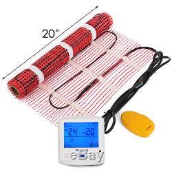 20 Sqft Electric Tile Radiant Warm Floor Heating Mat Kit Alarmer Easy Install