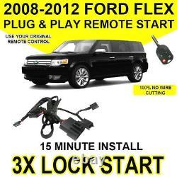 2008-2012 Ford Flex Plug and Play Remote Start Kit / 3X Lock / DIY Easy Install