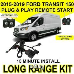 2015-2019 Ford Transit 250 350 Plug and Play Remote Start +RF Kit Easy Install