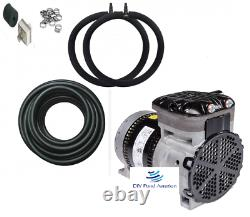3-LARGE Lake/ Pond Aeration kits with600' WTD tube/ NEW PUMPS 6 Diffusers 3+acres