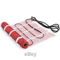 35 Sqft Electric Tile Radiant Warm Floor Heating Mat Kit Easy Install Alarmer