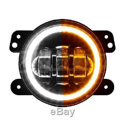4in Standard fit Jeep LED Fog Light / Turn Signal 2pc Kit Easy installation