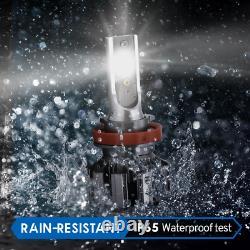 4pcs H8 H11+9005 CSP LED Headlight High Low Beam Kit RGB Bluetooth Phone Control