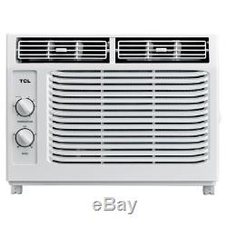 5,000 BTU White Window Air Conditioner Rotary Control With Easy Installation Kit