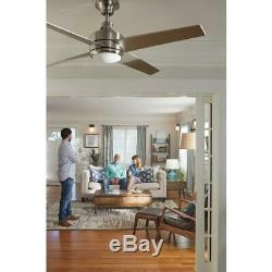52 LED Indoor Brushed Nickel Ceiling Fan Easy Install Light Kit Remote Control