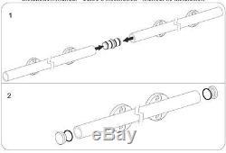 6.6FT Easy install top mount barn door hardware stainless steel barn track kit