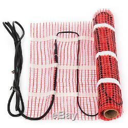 60 Sqft Electric Tile Radiant Warm Floor Heating Mat Kit Easy Install 120V