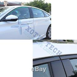 6x Chrome Delete Vinyl Blackout Window Trim Kit for Honda Accord Sedan 2018-2020