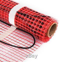 80 Sqft Electric Tile Radiant Warm Floor Heat Mat Kit Easy Install Living Room