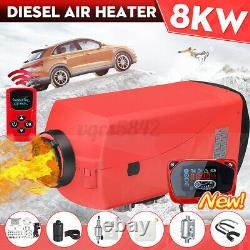 8KW 12V Upgrade Diesel Air Heater Kit LCD Thermostat For Truck Boat Car Bus USA