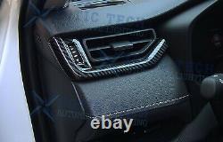 8pcs Carbon Fiber Interior Decoration Cover Trim Combo For Toyota RAV4 2019 2020