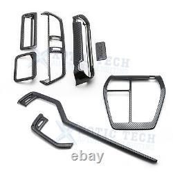 8x Carbon Fiber Front Interior Decor Cover Molding Pkg Kit For Toyota RAV4 19-20