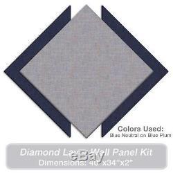 ADW Acoustic Panels 40 X 34 X 2 Diamond Layer Kit Quick Easy DIY Install