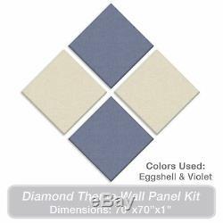 ADW Acoustic Panels 70 X 70 X 1 Diamond Theme Kit Quick Easy DIY Install