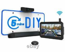 AUTO-VOX Solar-1 Wireless Rear View Backup Camera Kit 5 Mins Easy Install