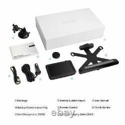 AUTO-VOX Solar-1 Wireless Rear View Backup Camera Kit 5 Mins Quick Easy Install