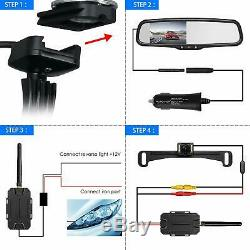 AUTO VOX T1400 Upgrade Wireless Backup Camera Kit, Easy Installation AUTO-VOX