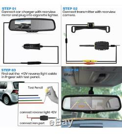 AUTO-VOX T1400W Wireless Backup Camera Kit, Easy Installation Night Vision