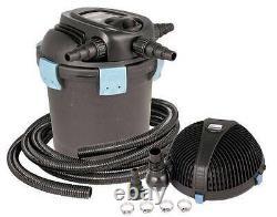 Aquascape UltraKlean 3500 Pond Filtration Kit-UV pressure filter, pump, tubing
