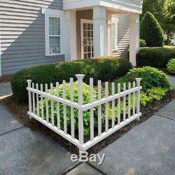 Ashley Vinyl Corner Picket Fence Kit Premium Weather Resistant Easy Installation