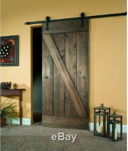 Assemble Barn Door 34 inx 81 in. Sliding Hardware Kit Wood Easy Install 1 Panel
