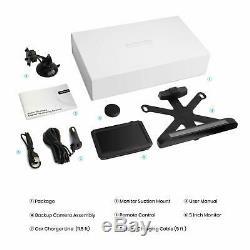 Auto-Vox Solar 1 Wireless Rear View Backup Camera Kit 5 Mins DIY Easy Install US