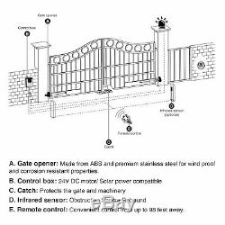 Automatic Gate Operator Complete Hardware Kit Easy Install