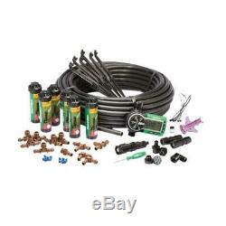 Automatic Rain Bird Underground Yard Lawn Sprinkler System Kit Easy Installation