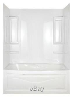 Bathtub Shower Remodel Kit Easy Install Walls Polycomposite 6 Shelf 2 Towel Bar