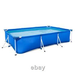 Bestway 9.8ftx 6.6ft x26in Rectangular Above Ground Swimming Pool Kit Outdoor US