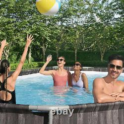 Bestway Power Steel 20x12x4 Ft Above Ground Oval Pool Set with Accessory Kit(Used)