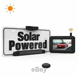 Boscam Solar Power Wireless Car Rear View Backup Camera Kit Easy Installation