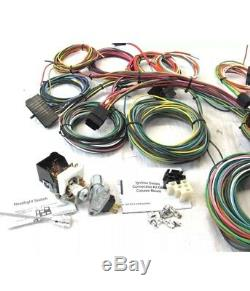 Buick Olds Custom universal 22 Circuit Wiring Harness kit easy painless install