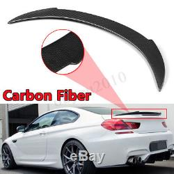 11-18 M6 650i Fit FOR BMW F13 6-Series 2D Coupe V Style Trunk Spoiler Carbon