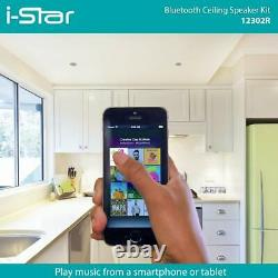 Ceiling Bluetooth Speakers Complete Kit Easy To Install Ceiling Speakers Fit