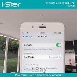 Ceiling Bluetooth Speakers Complete Kit Easy To Install Works With Echo Dot