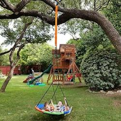 Childrens Tree Swing with Hanging Ropes Fun Swing Hanging Kit Easy Installation