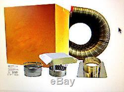 Chimney INSERT liner kit 4x25 STAINLESS STEEL with Cap EASY INSTALL Lifetime Wrnty