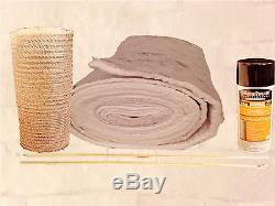Chimney Liner INSULATION KIT Fits 7-8 Liners 1/2 thick Easy Install 35 FEET