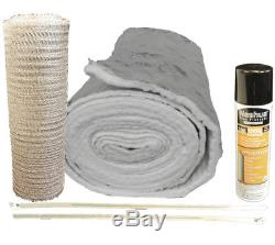 Chimney Liner INSULATION KIT Fits 7-8 Liners 1/4 thick Easy Install 35 FEET