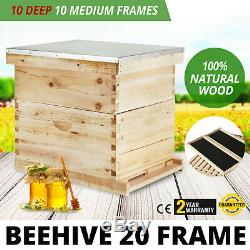 Complete Beekeeping 20 Frame Beehive Box Kit Beehive Breeding easy installation