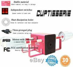 Cup Turner, Tumbler Cuptisserie Kit W Motors, Four-Arm Cup Spinner Easy Install