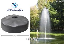 DIY Pond Fountain Head with 2 Rocket Pattern Nozzle Build Your OWN Fountain KIT