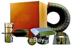 DO IT YOURSELF! CHIMNEY LINER TEE KIT 6 x 20' EASY TO INSTALL Warranty