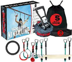 Deluxe Ninja Line Ninjaline Kit with Skate Swing Obstacle Course Easy Install