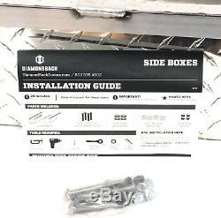 Diamondback Side Boxes Truck Bed Storage Easy Installation Metal Hardware Kit