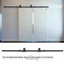 Easy Install Top Mount Barn Doors Hardware Carbon Steel Sliding Barn Track Kit
